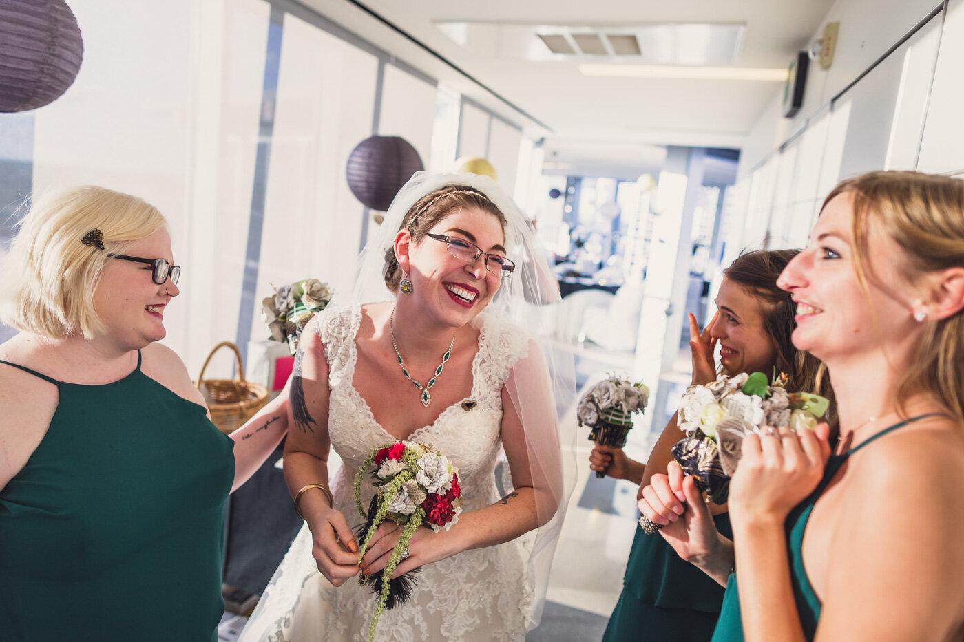 happy-bride-celebrates-with-bridesmaids