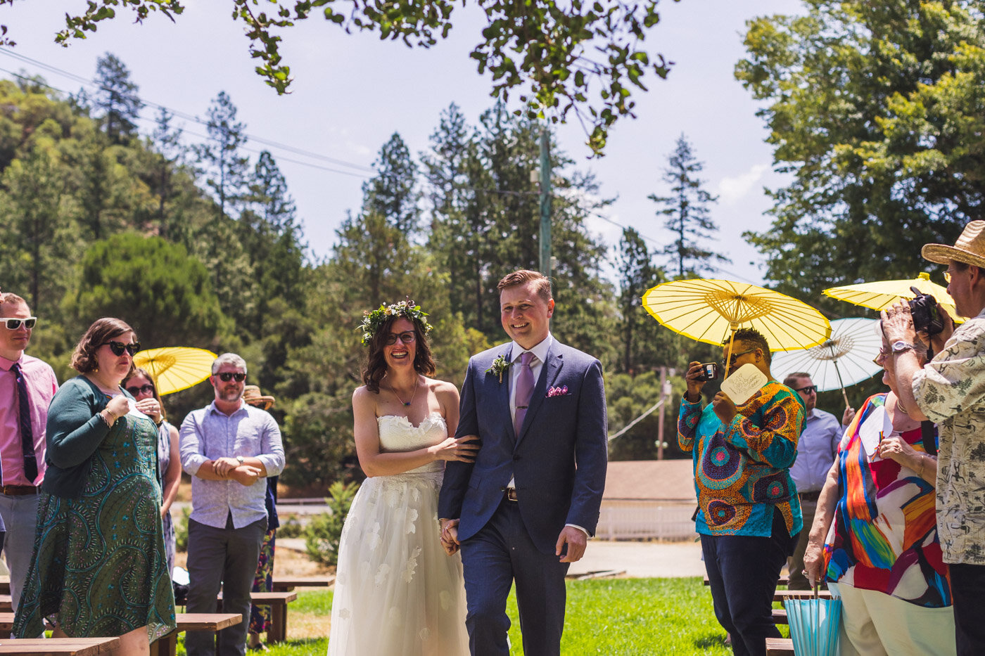 bride-and-groom-walking-down-aisle-together