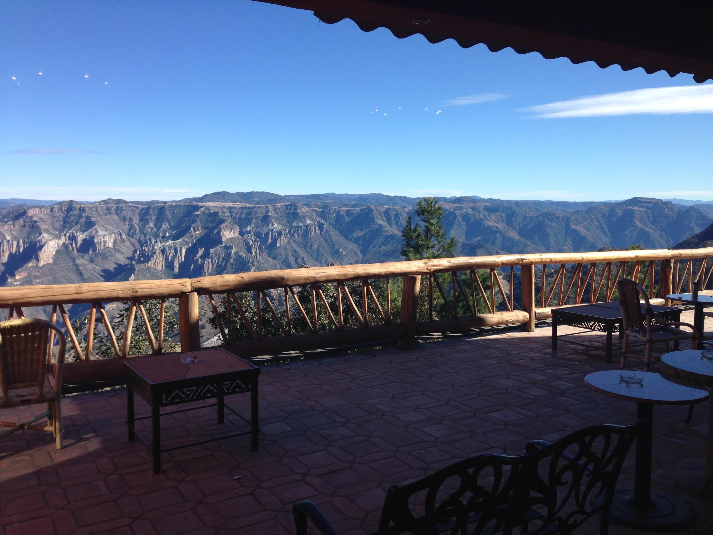 Pasada Mirador Hotel at the rim of Copper Canyon, MX