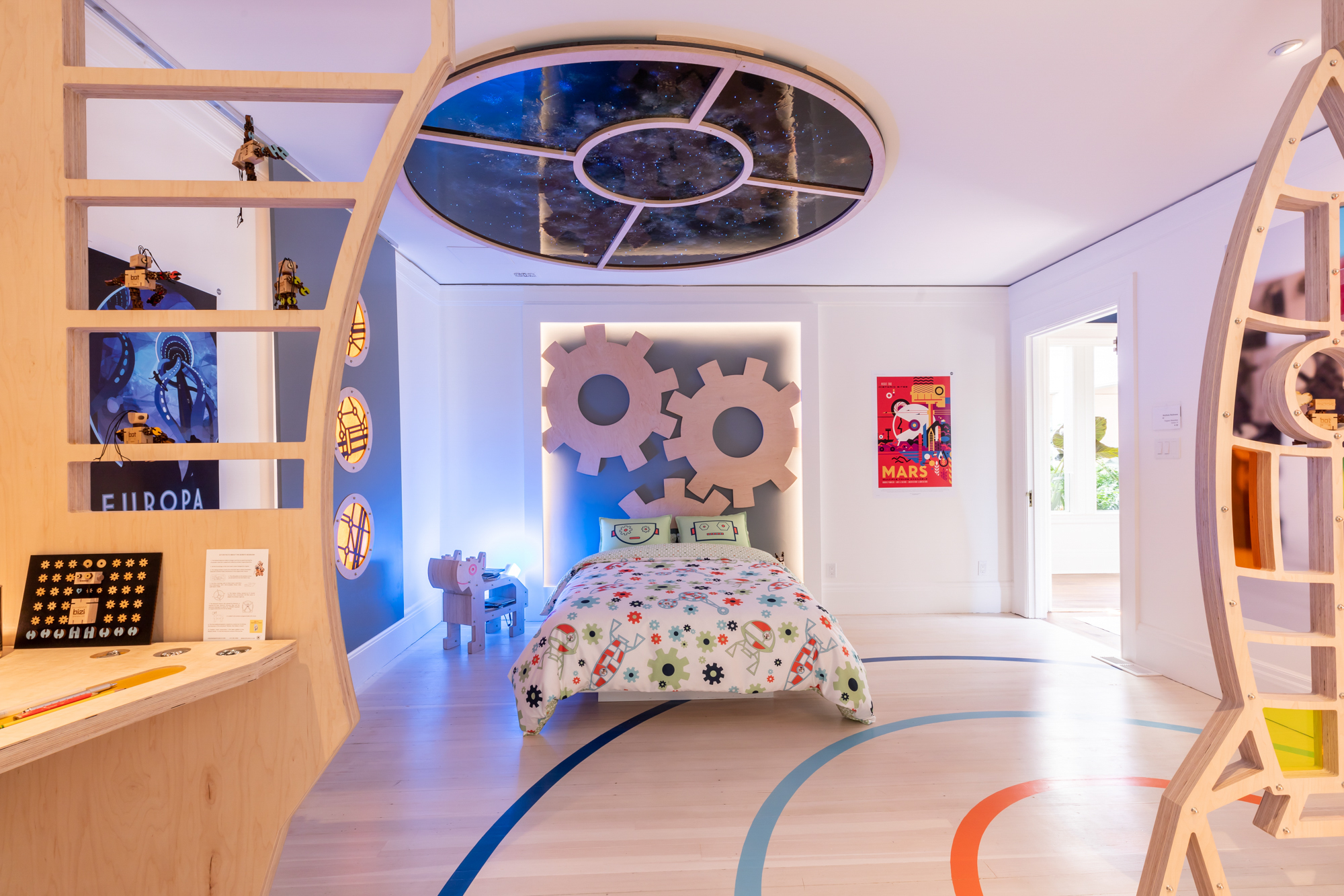 """Bizibots Bedroom"" by  Virginie Manichon of Atelier 19 ."
