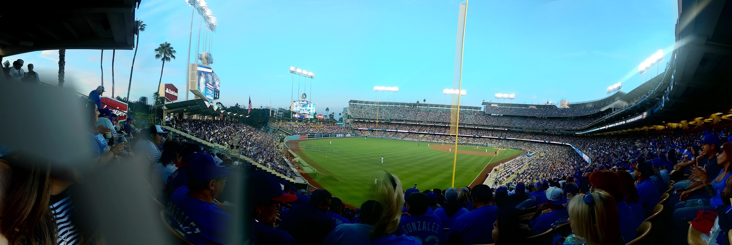 Dodger Stadium from our seats!
