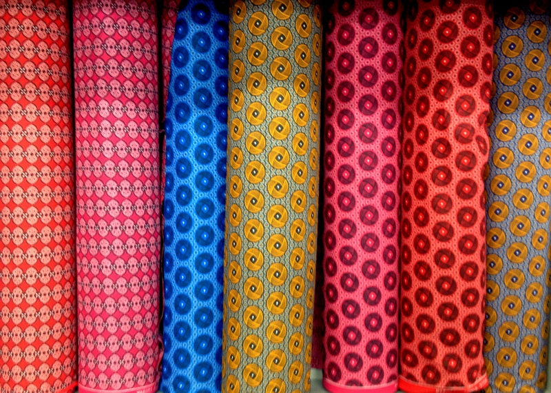 Traditional fabric for the local Durban seamstress.