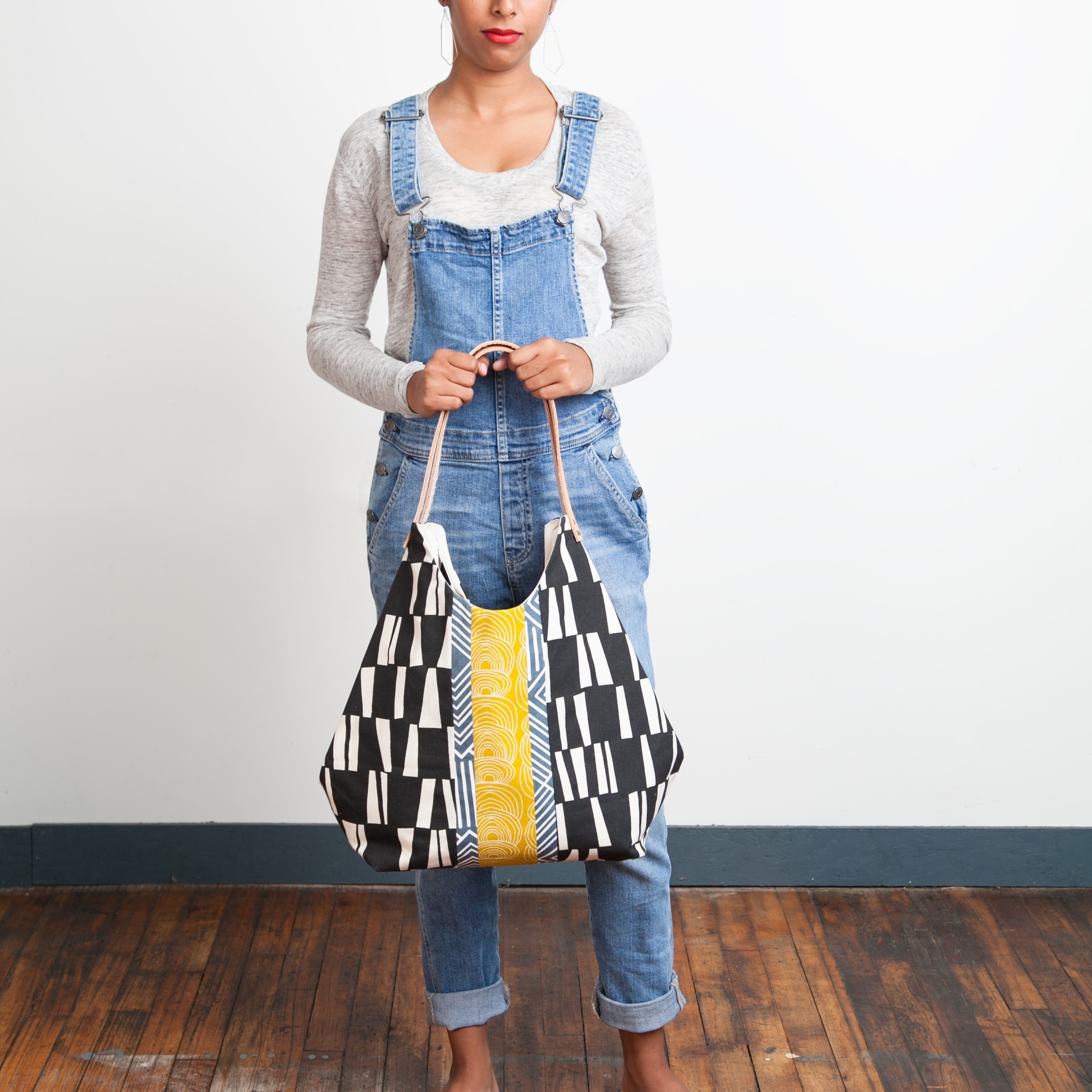 Black Abstraction Tote