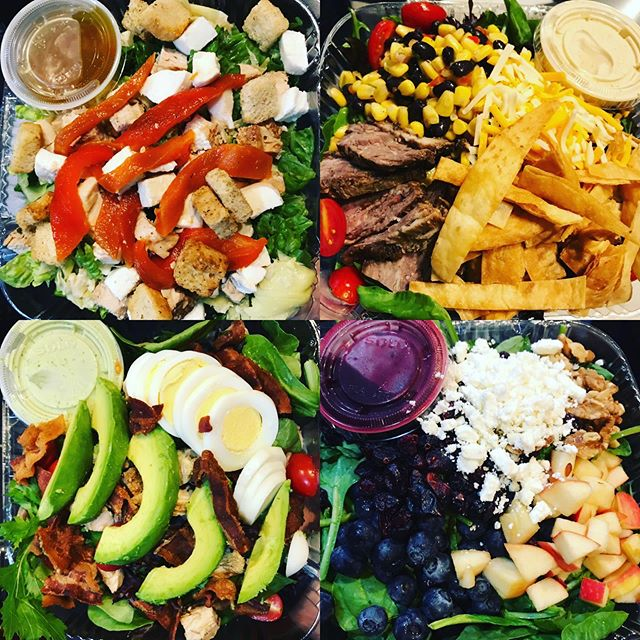 Assorted boxed salads for HP & Google ❤️💛💚💙