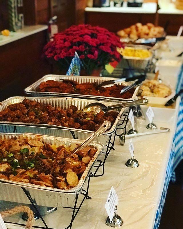 Oktoberfest themed buffet this evening 🍻 autumn 🍂 🍺