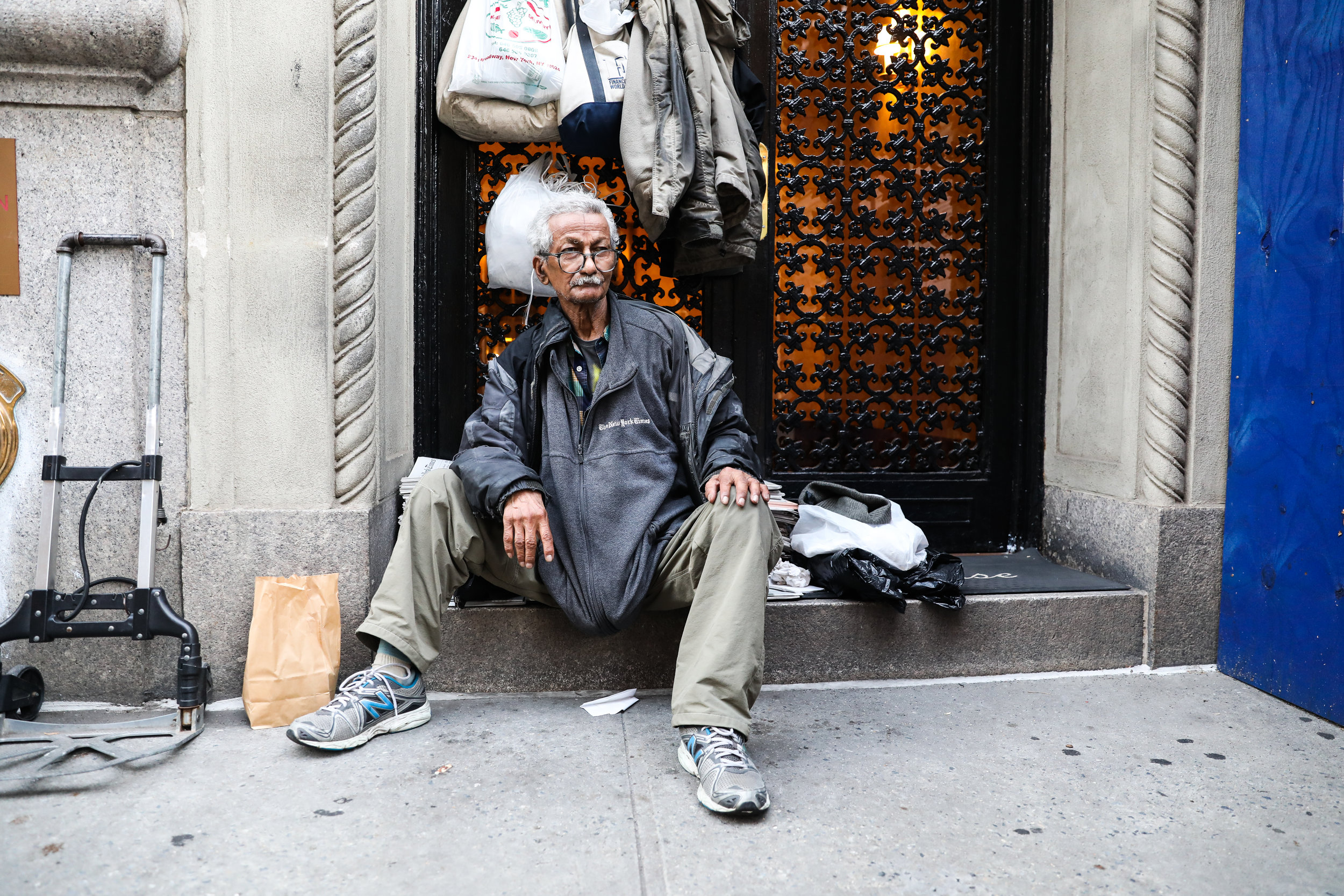 Ram Badan Singh has sold newspapers at Central Park West and 86th Street every day for more than 30 years. A few months of subway construction won't deter him.