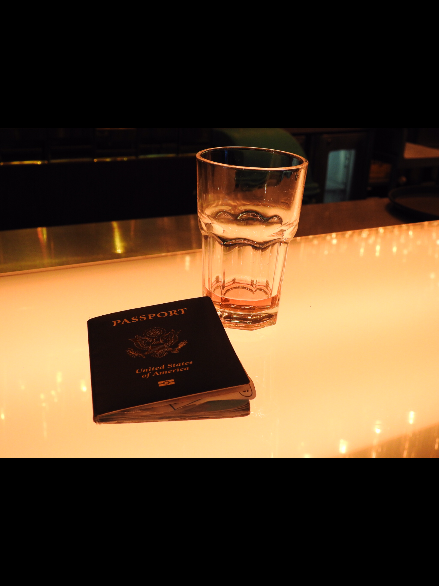 Passport and Fine Whiskey in the airports. A present time favorite :) (Kentucky homegrown yogi, baby!)
