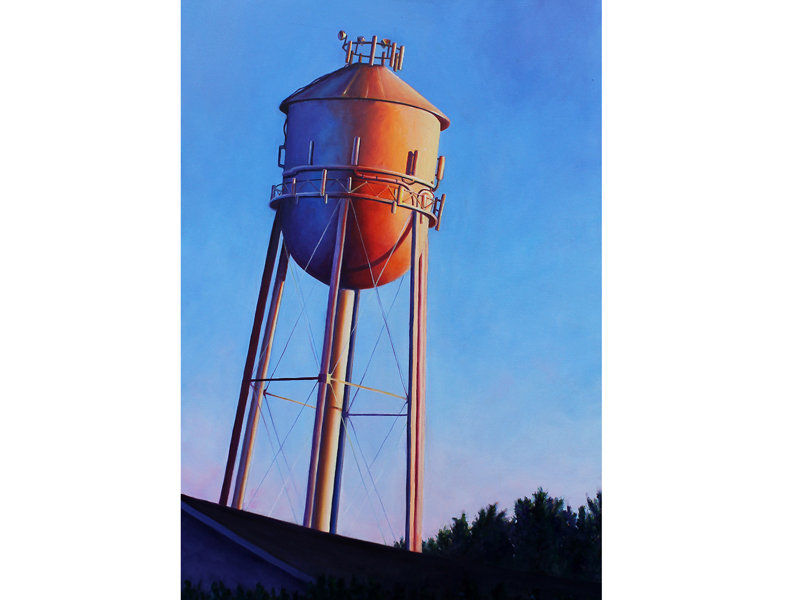 Water Tower on Philly Pike oil 24x36