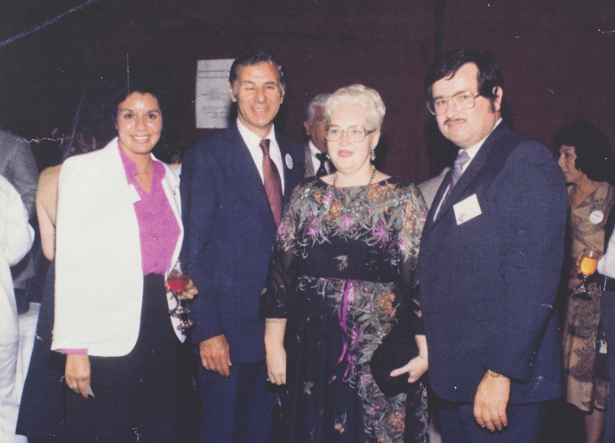 """Puente poses next to California Gov. George Deukmejian (second from left) in this undated photo. (Courtesy of The Sacramento Archives)"" - Martin Kuz, Sactown Magazine, 2009"