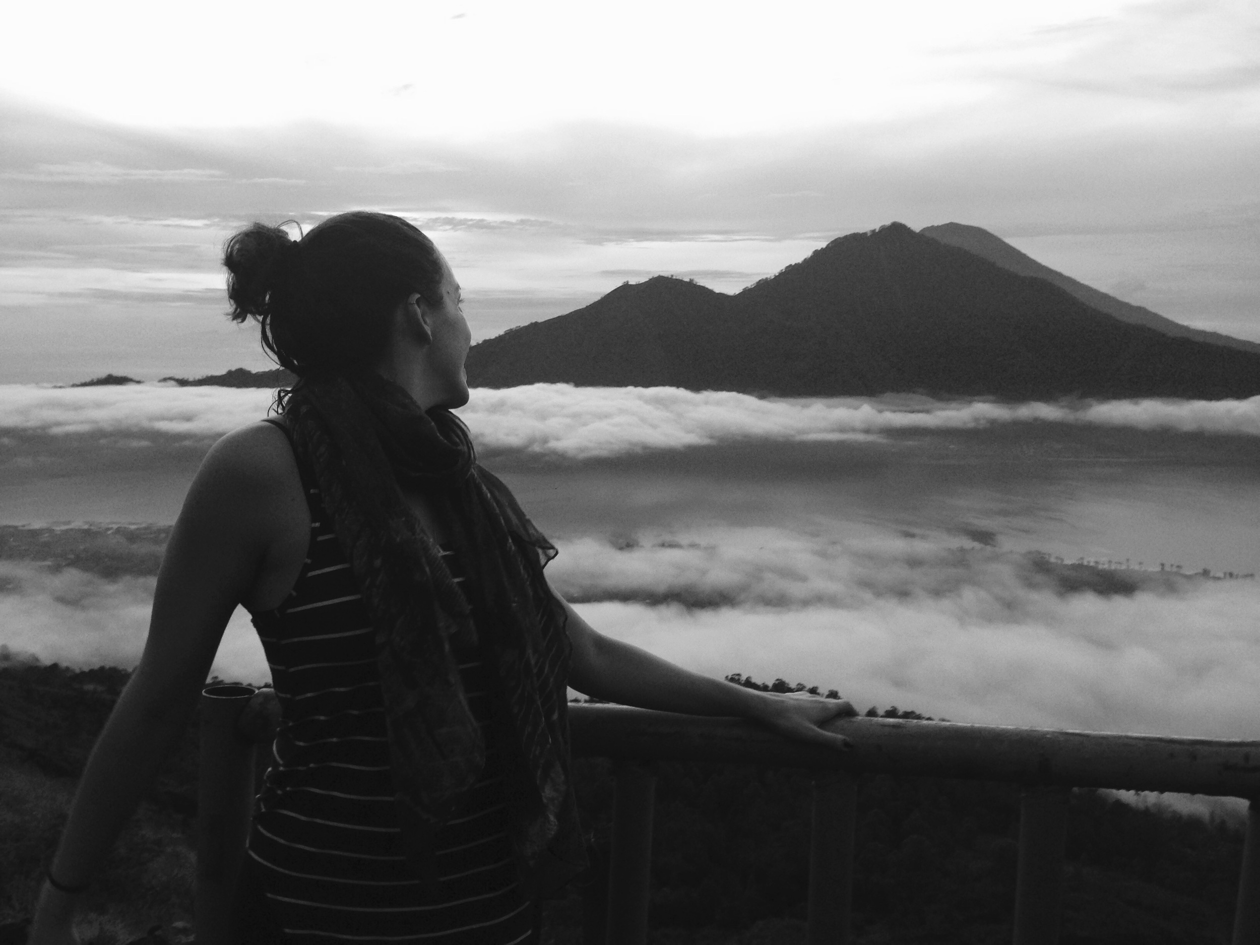 View from the top of Mount Batur, an active volcano in Bali, 2014.