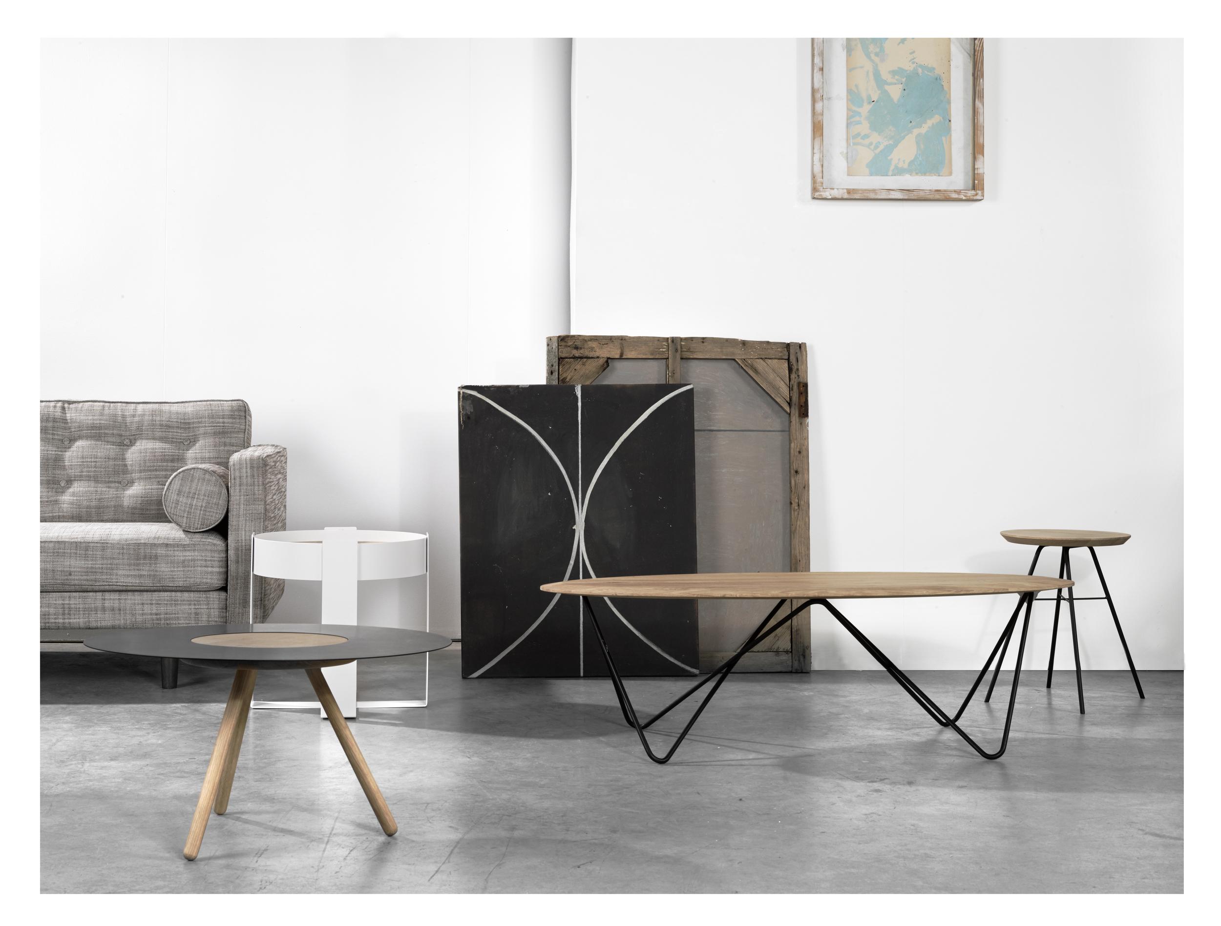 Setting Orb coffee table Sputnik coffee table Disc stool Loupe.jpg