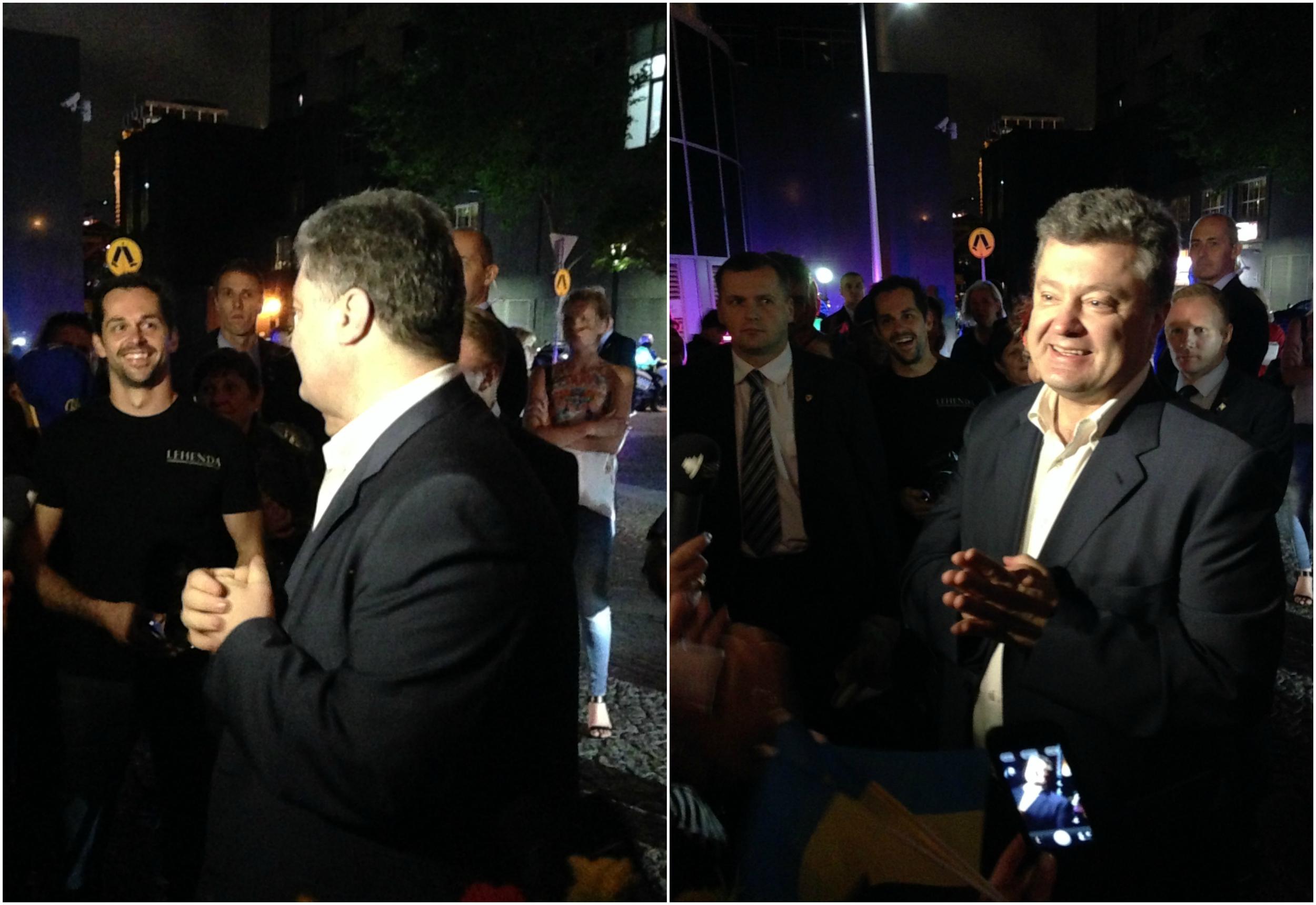 Alex with Ukrainian President Petro Poroshenko!!