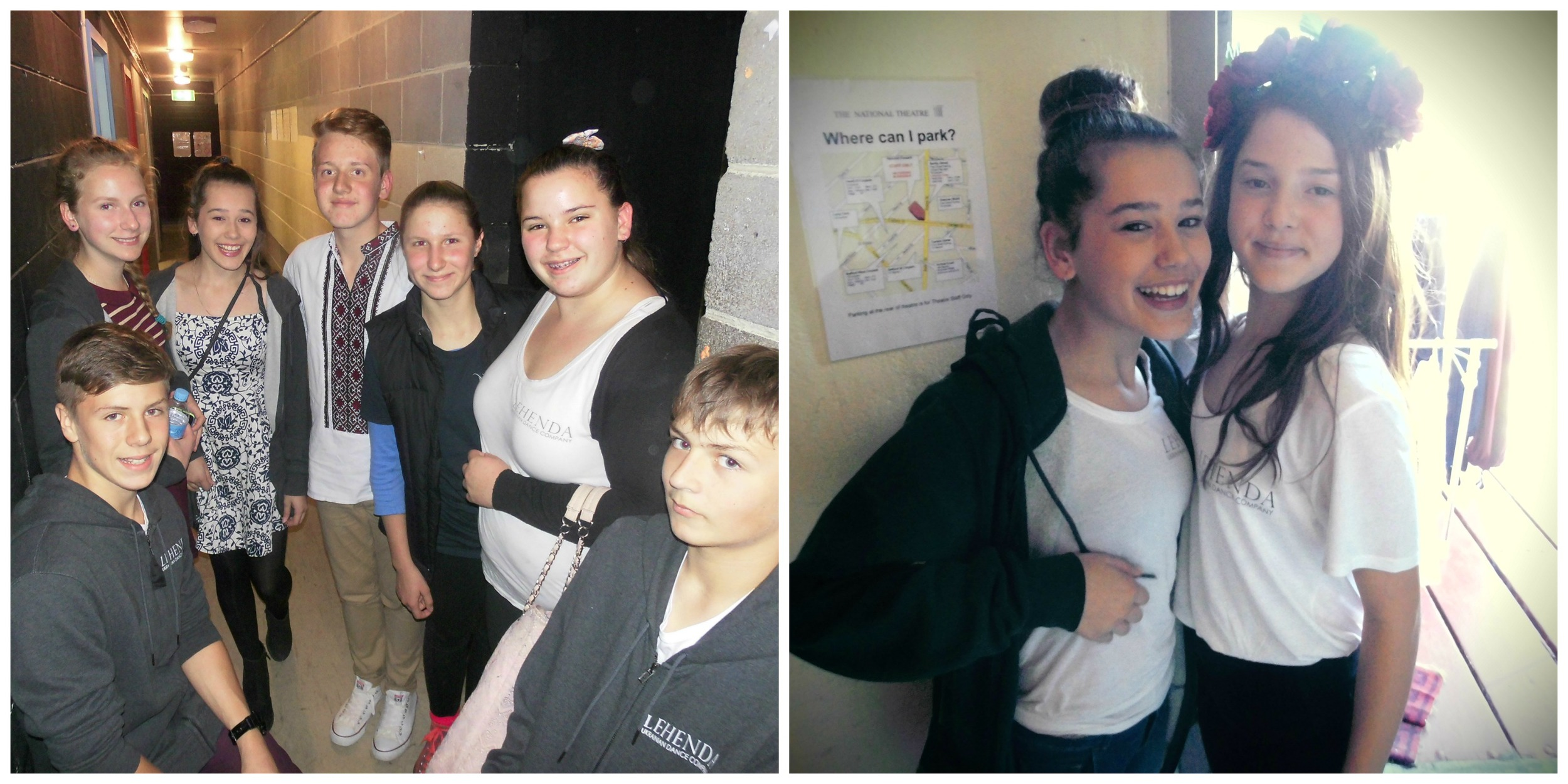 Youth Company Dancers helping with front of house