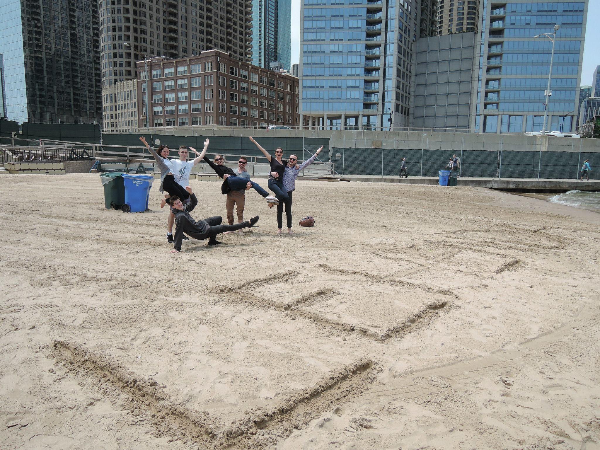 Lehenda Dancers at the beach in Chicago