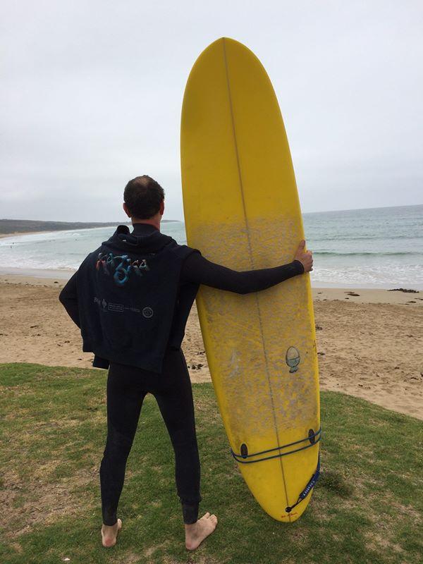 Andrei having a post Kazka surf!