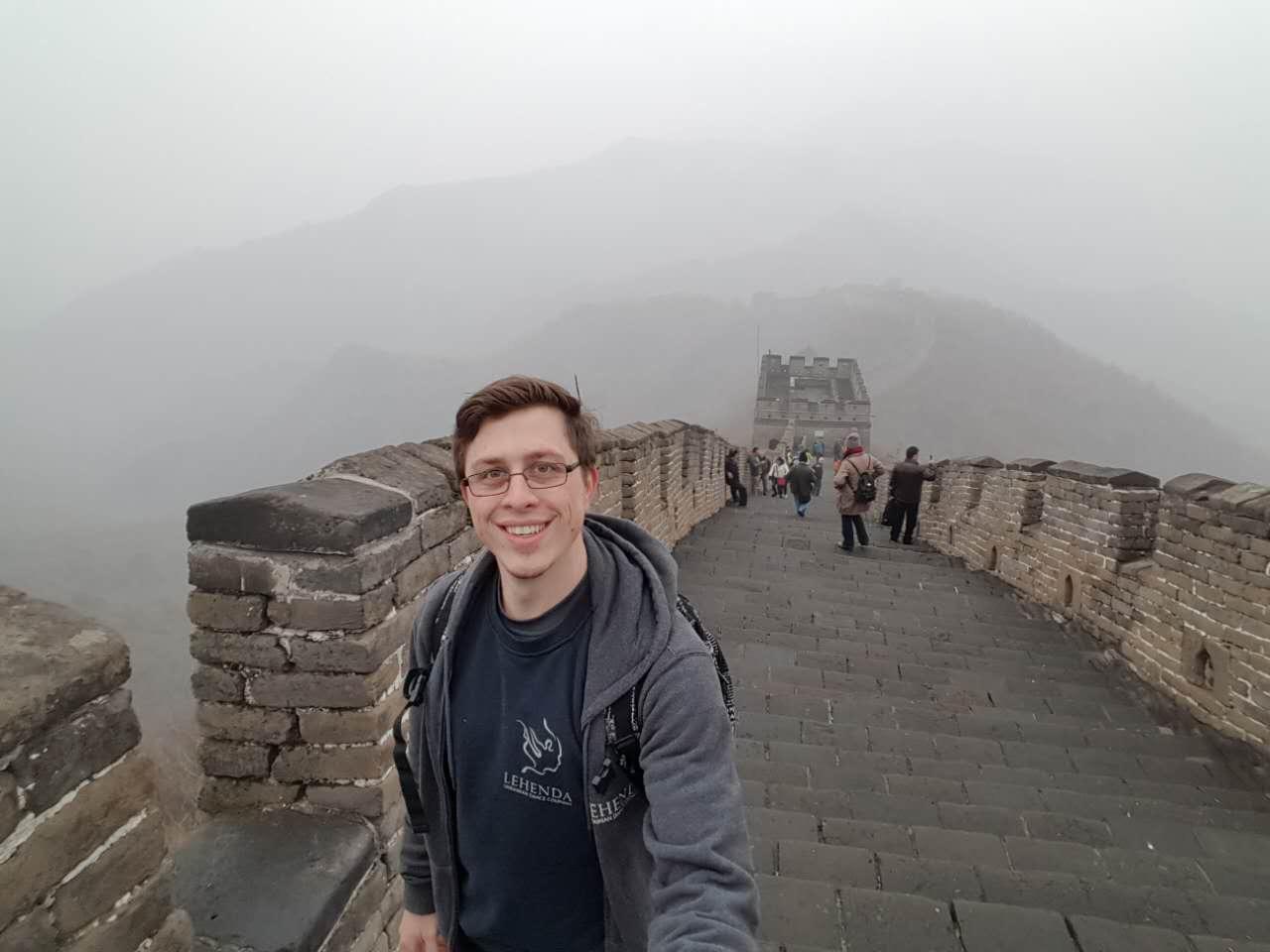 Michael at the Great Wall of China!