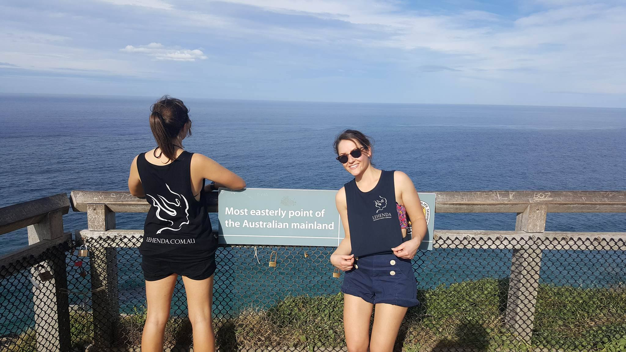 Lydia and Steph at the most easterly point of the Australian mainland!