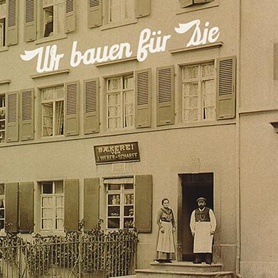 Postkartenserie zu einem Umbauprojekt Feinbäckerei Weber, Birsfelden