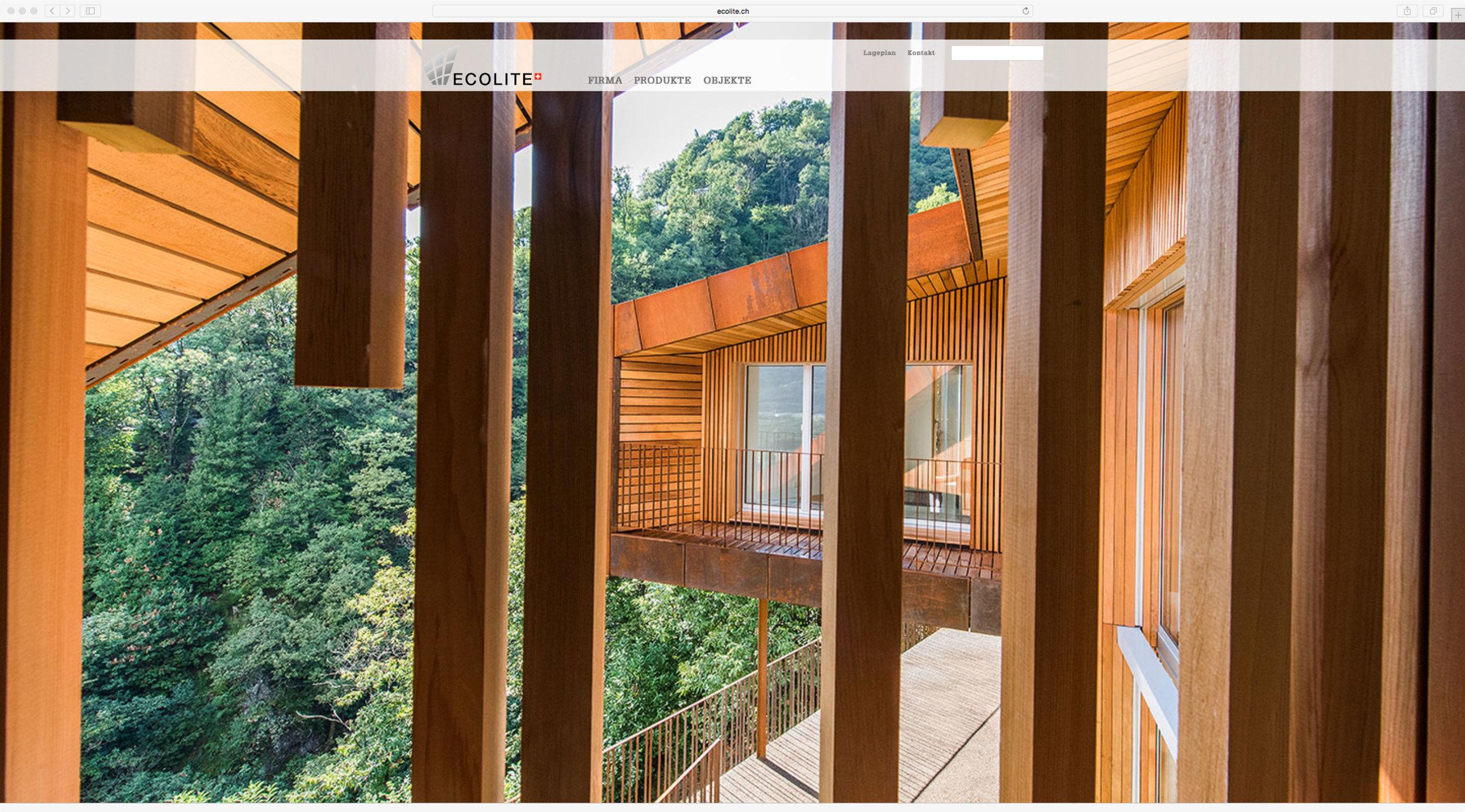 neue homepage von ecolite by 720 grad webdesign Schaffhausen