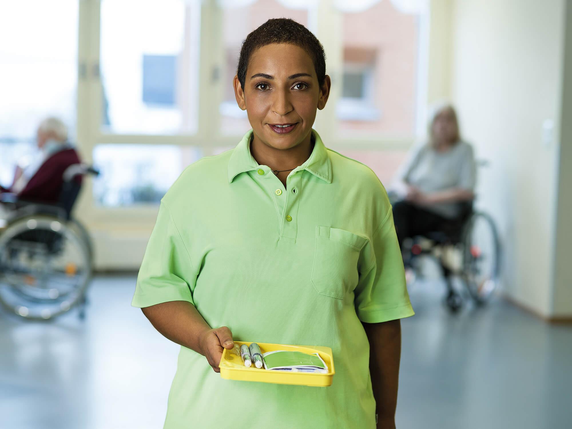 Melissa Schärer, Pflegefachfrau in einem Pflegeheim