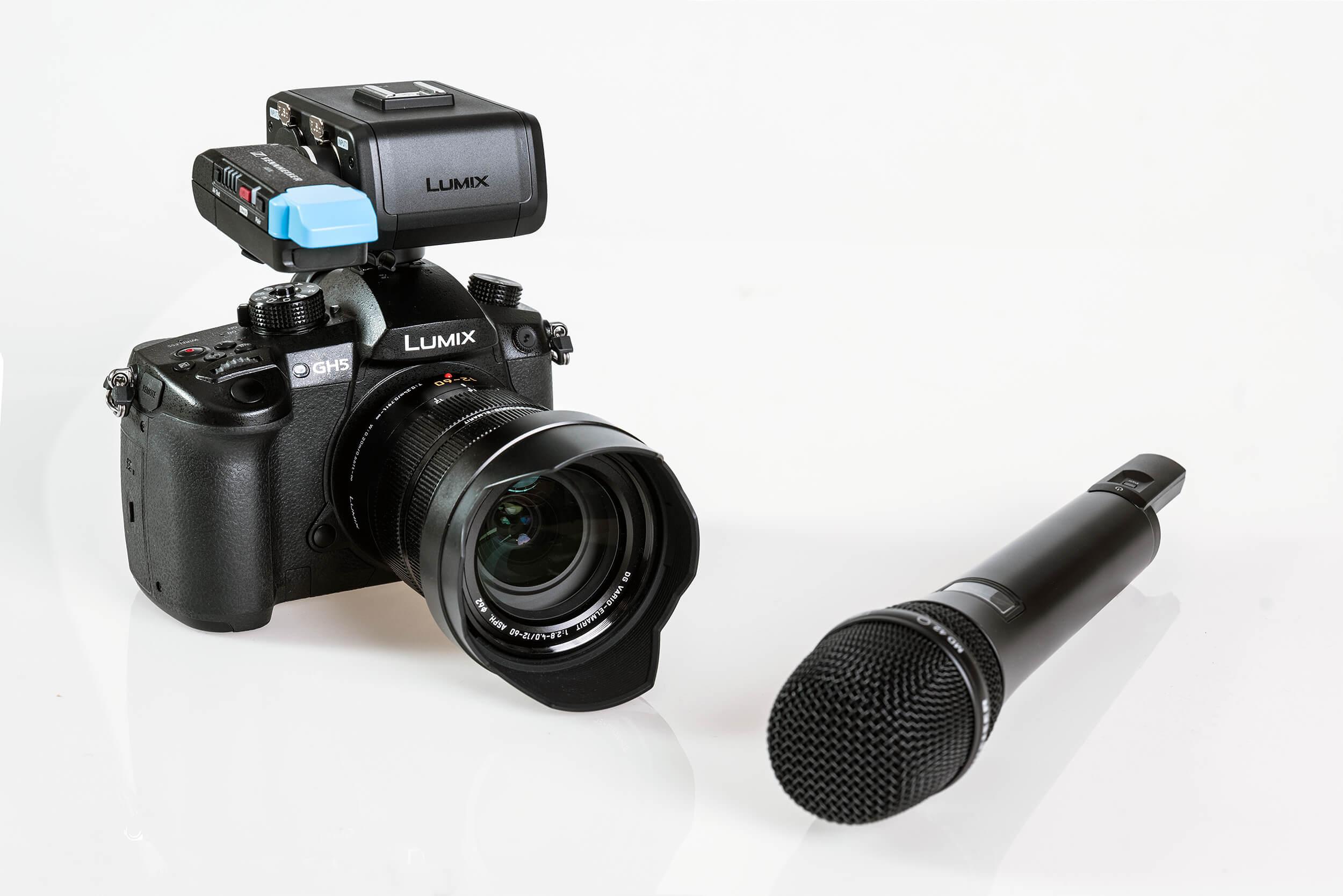 Panasonic GH5 mit XLR Adapter und Sennheiser Wireless Mikrofon