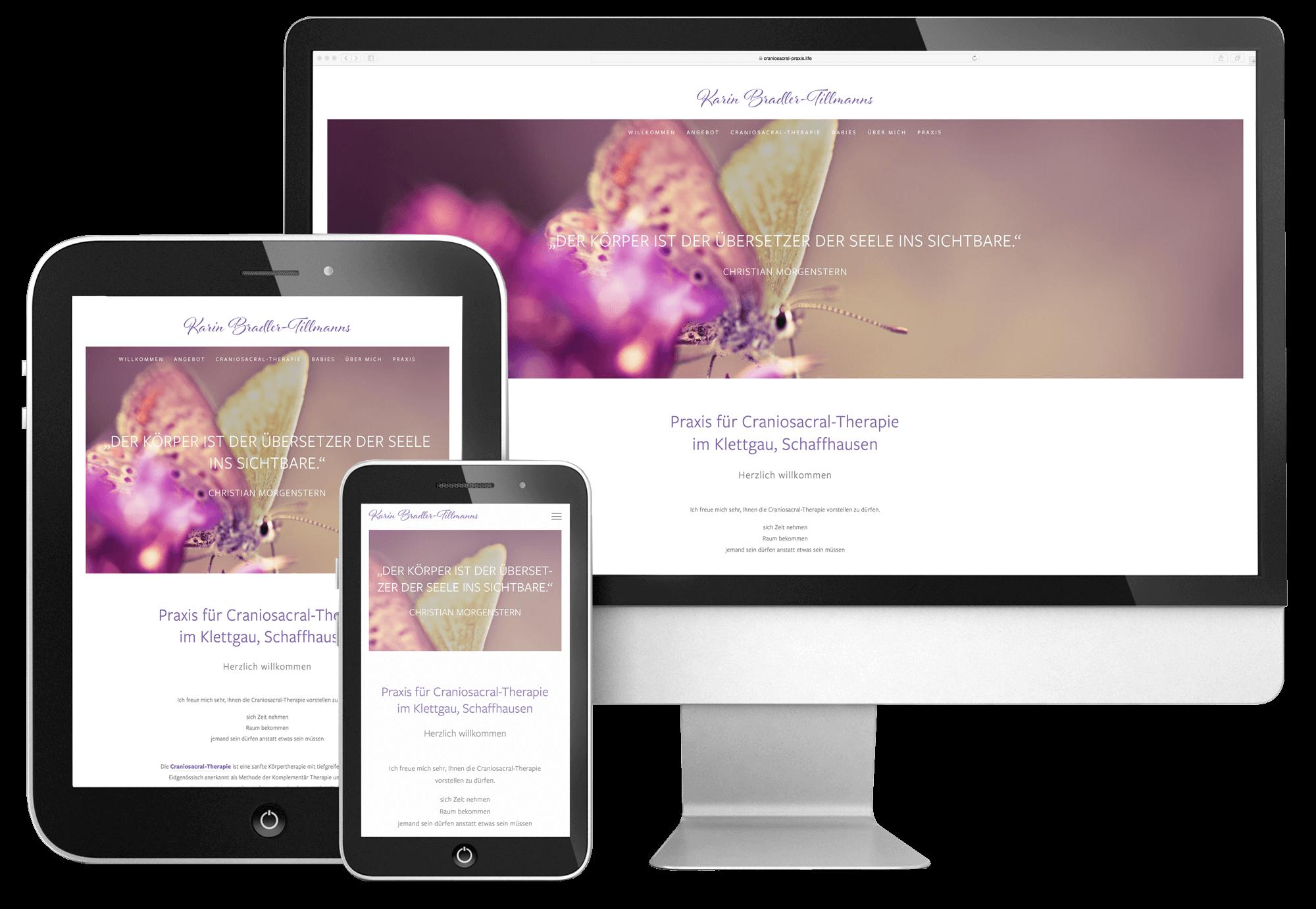 webdesign schaffhausen responsiv für karin bradler