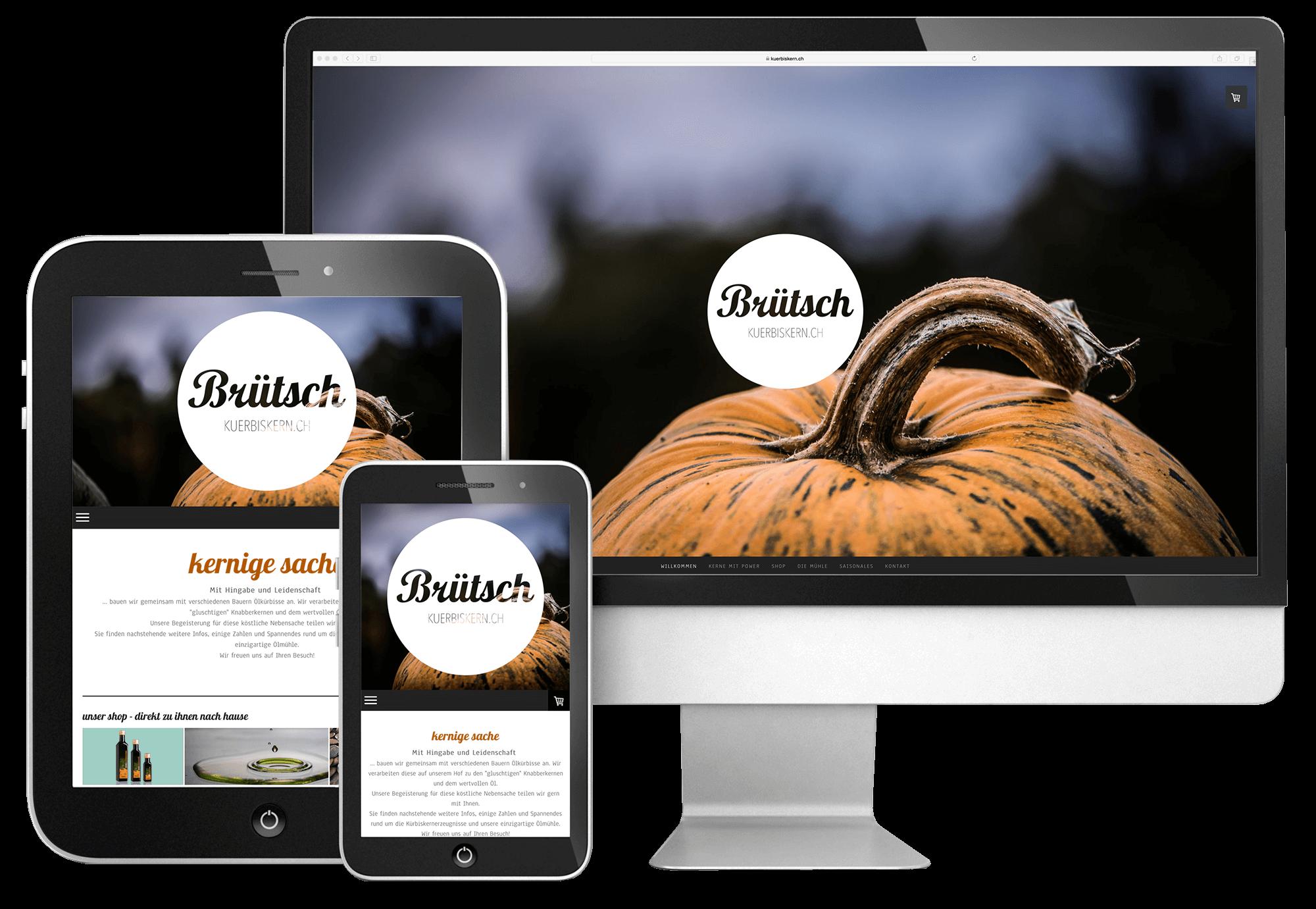 webdesign für Brütsch von 720 Grad Schaffhausen