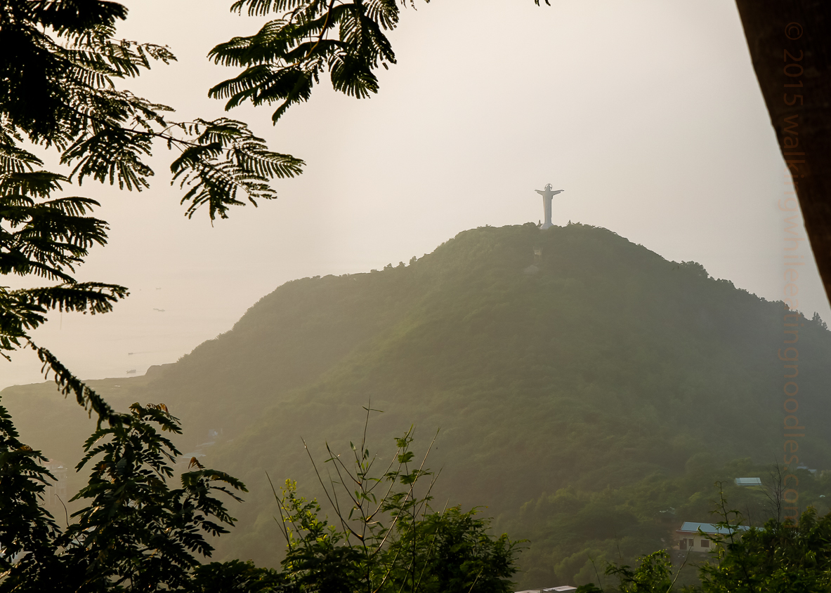 The Statue of Jesus can be seen from the outlook point of the lighthouse.