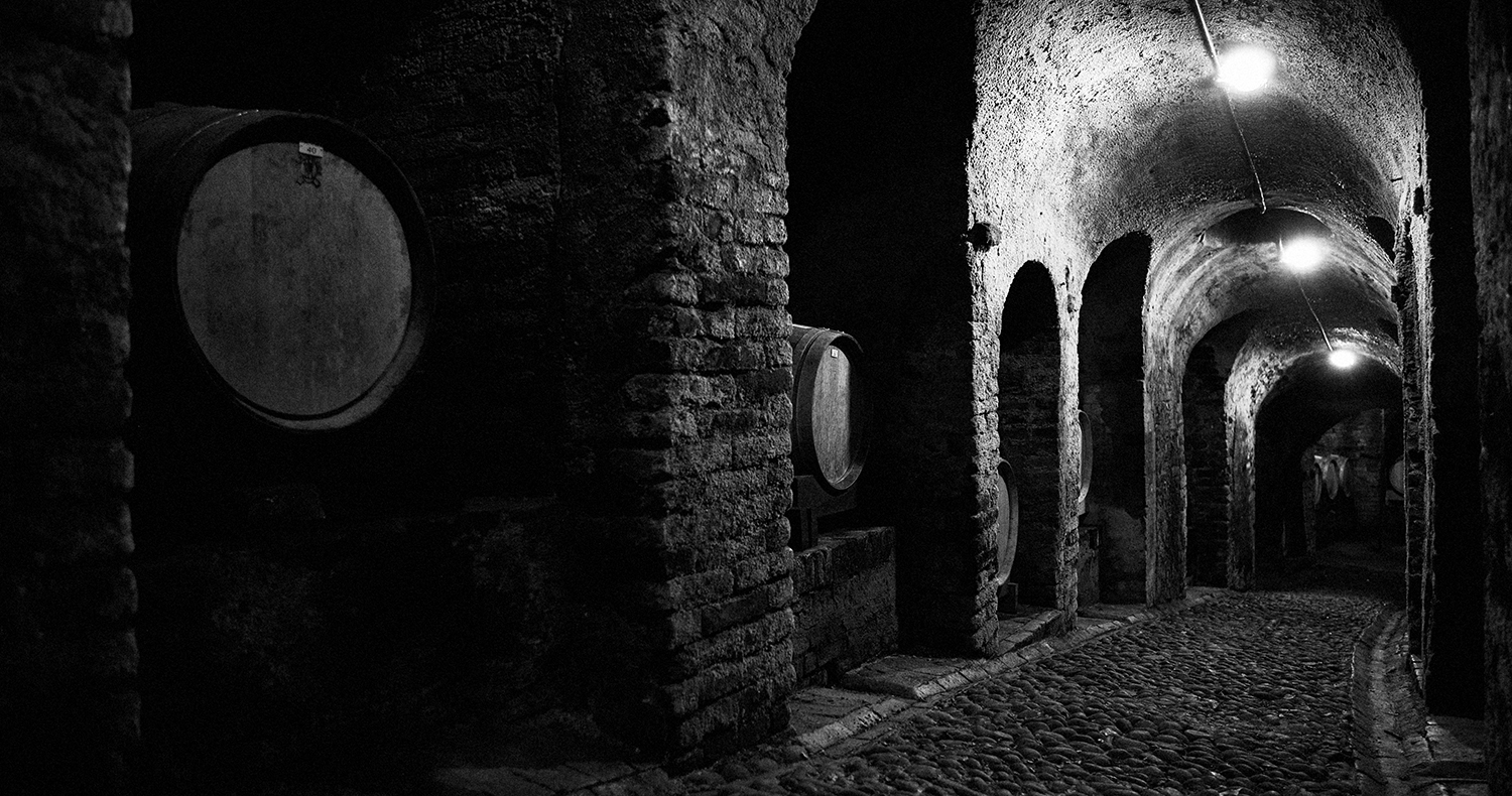 Cantina del Glicine, Neive, Langhe.  Wine cellar from the 15th century.  Photo Nicolas Schot