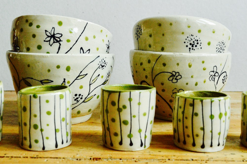 Tea cups and egg cups