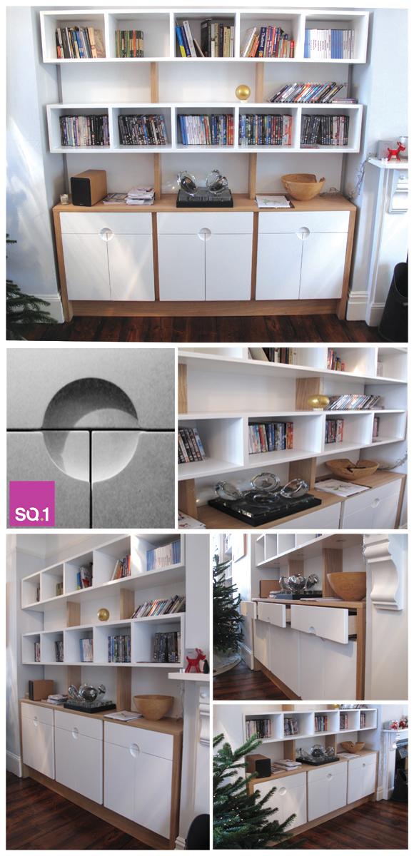 SQ1 Modernist Bookcase