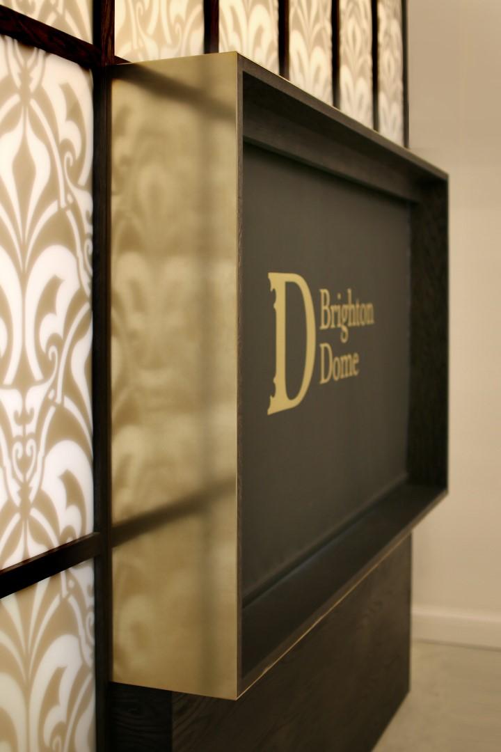 Brighton Dome ticket office brass sign