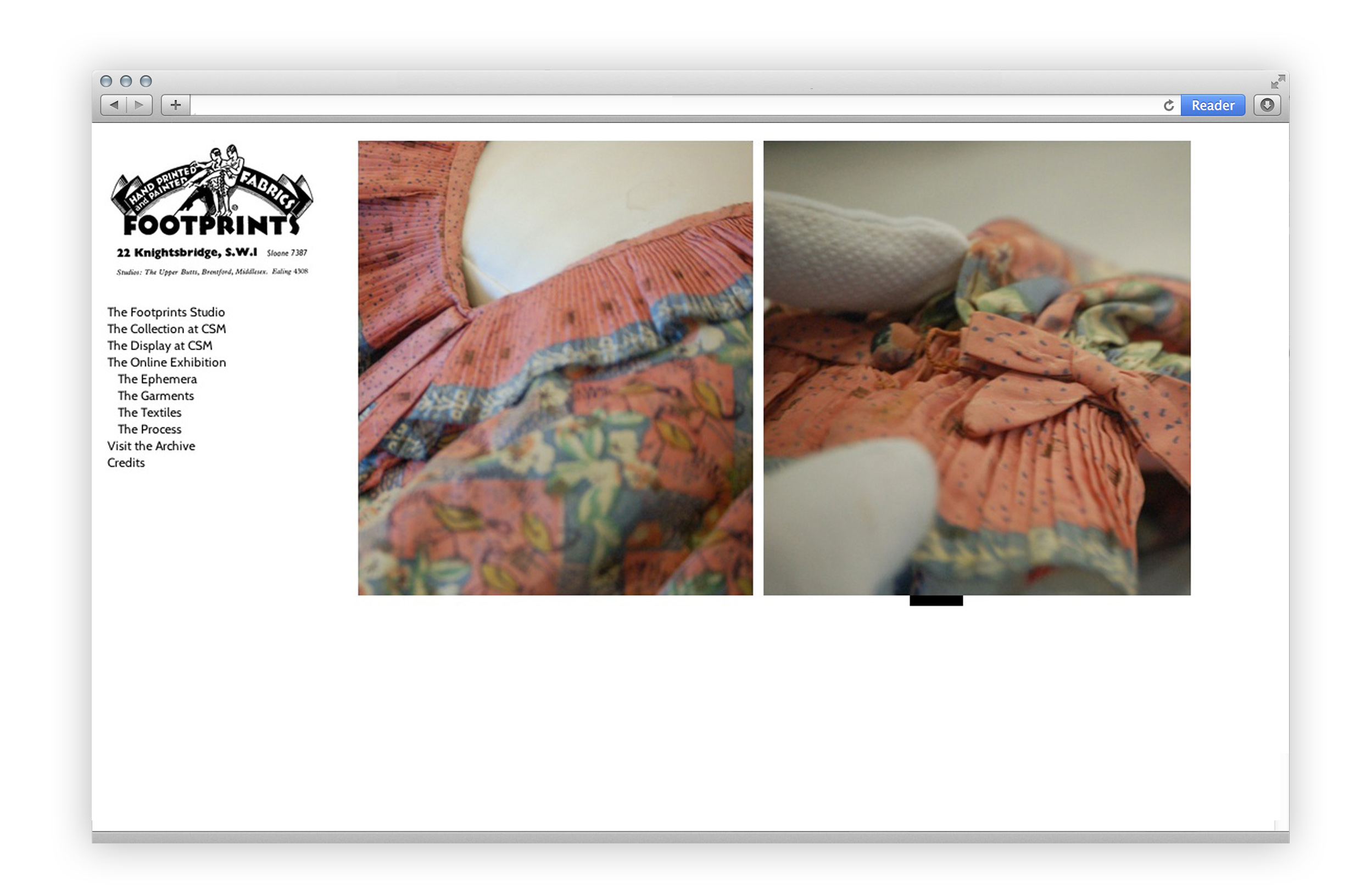 Footprints Garments Screenshot FASHION CURATION
