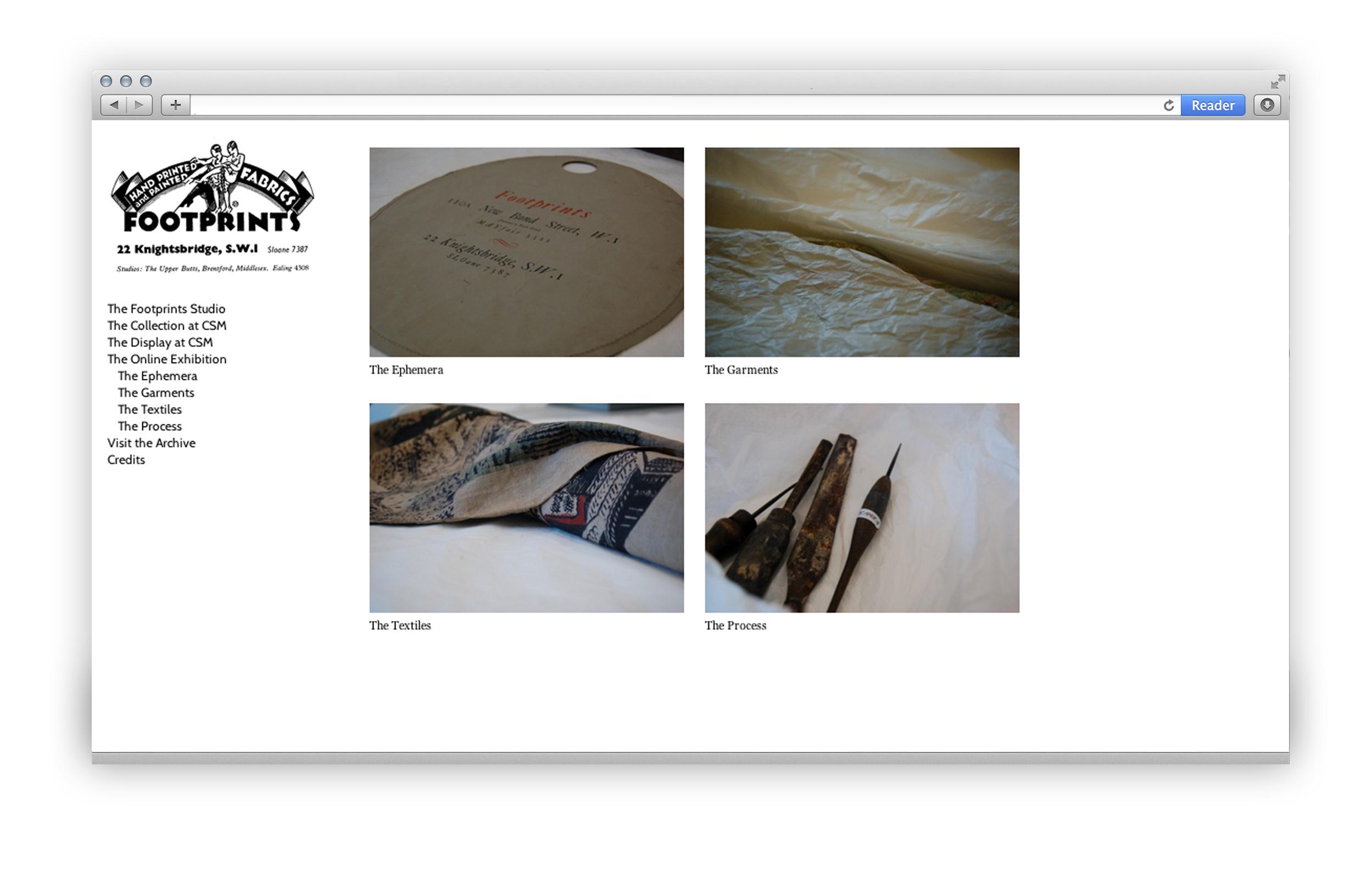 Footprints Studio Ephemera Screenshot