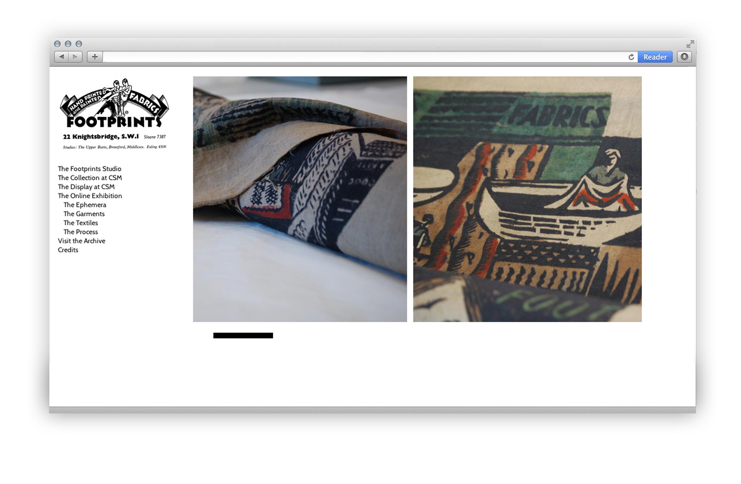 Footprints Studio Textiles Screenshot