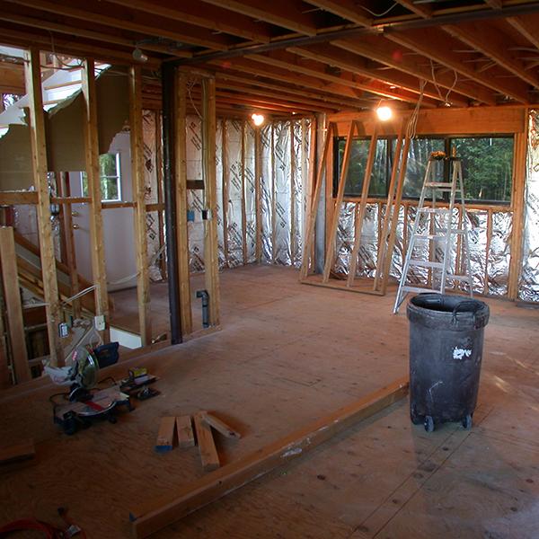 Flood restoration or potential basement playroom?