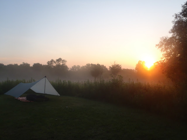 """The ultralight campsite - actually a """"testing gear"""" trip to Afton State Park, MN, hence the perfectly manicured location."""