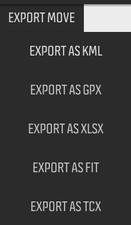 Import/Export options are available, allowing use with third party route planning apps, but implementation is a little poor.