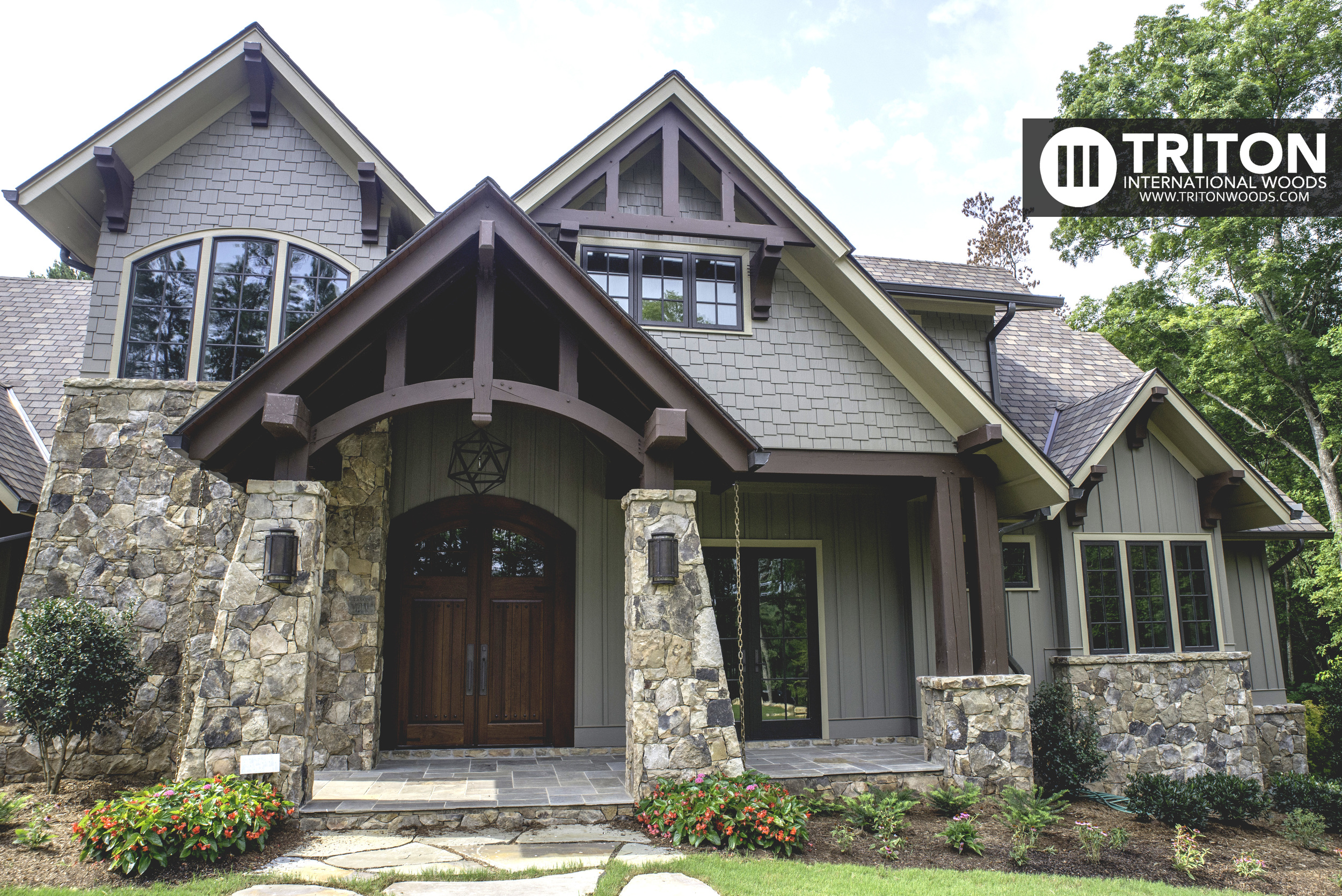 Conventional curved cord front entry canopy • Raleigh, NC