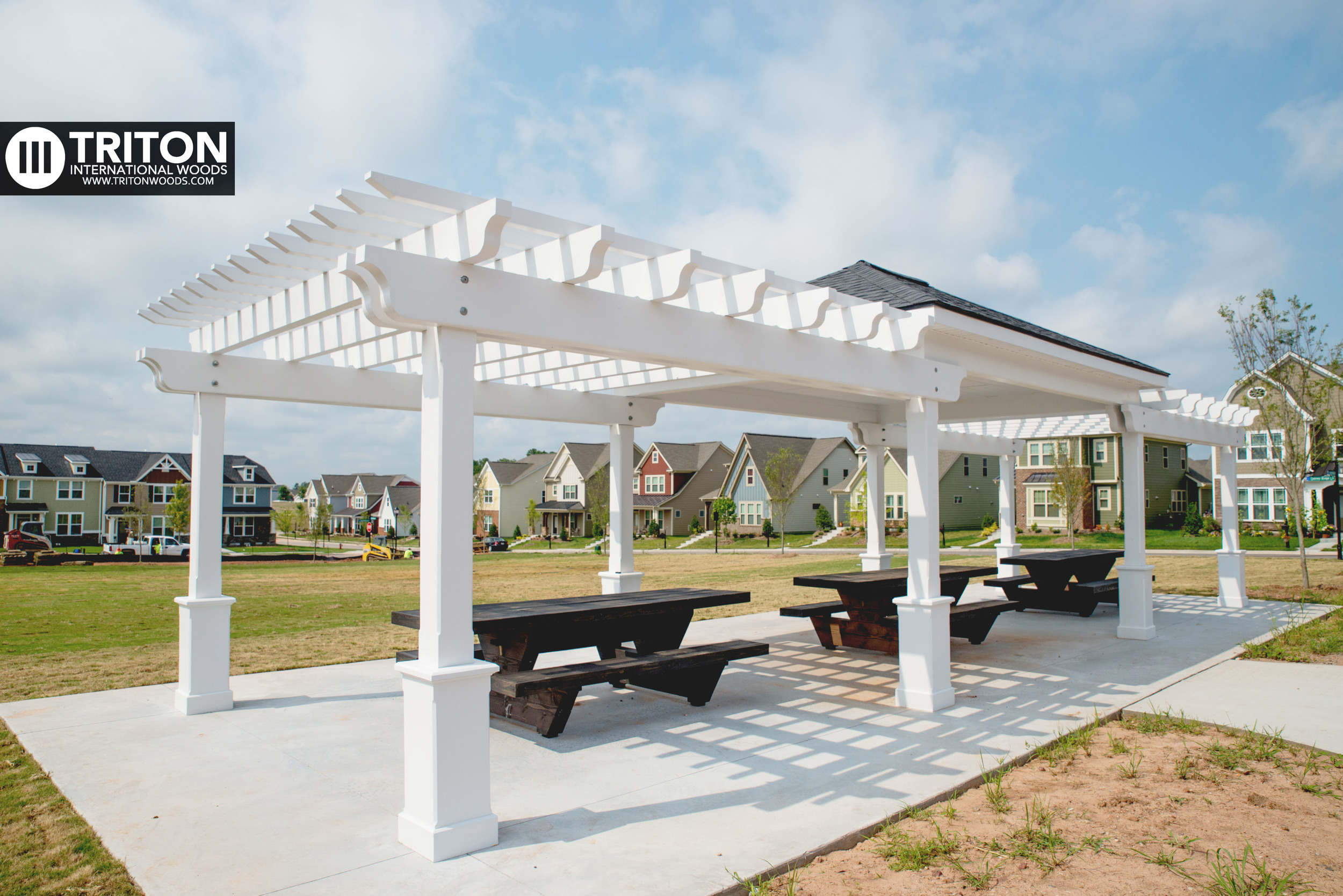 Picnic shelter designed and built by Triton