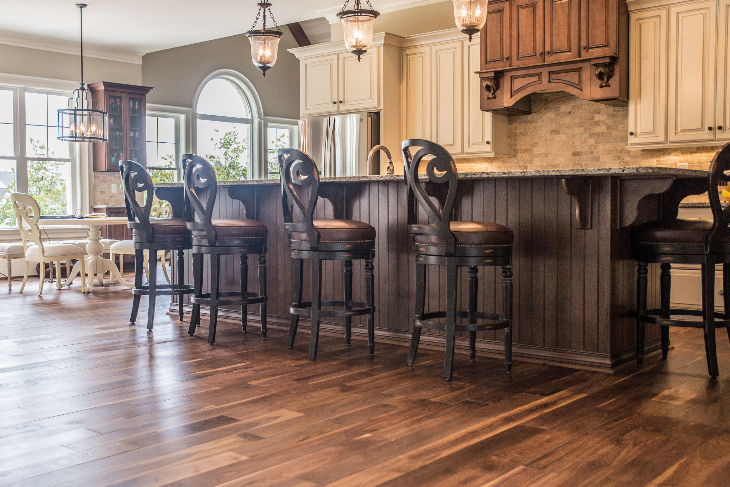 Custom Walnut Kitchen Floor