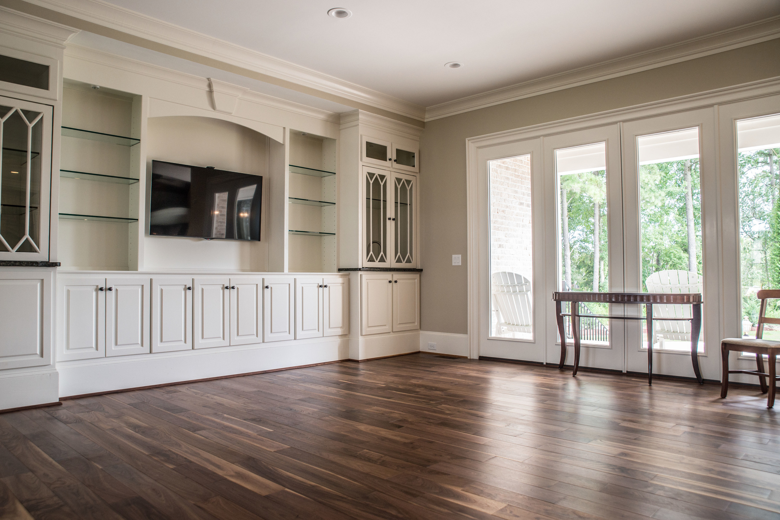Living Room Walnut Flooring by Triton