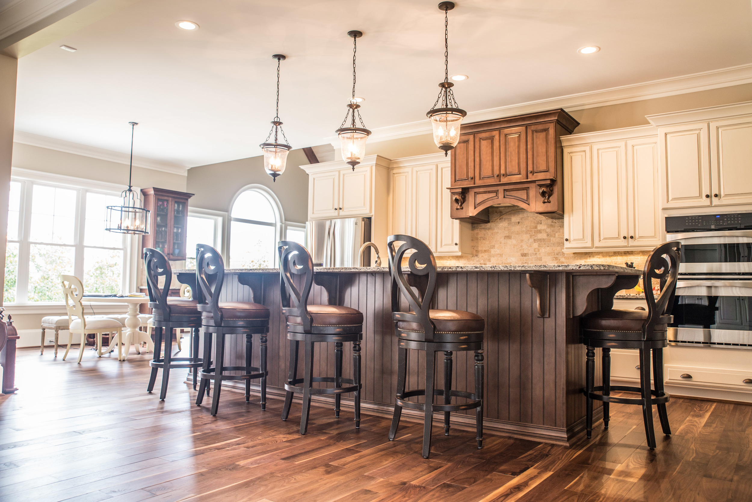 Kitchen bar with Custom Flooring by Triton