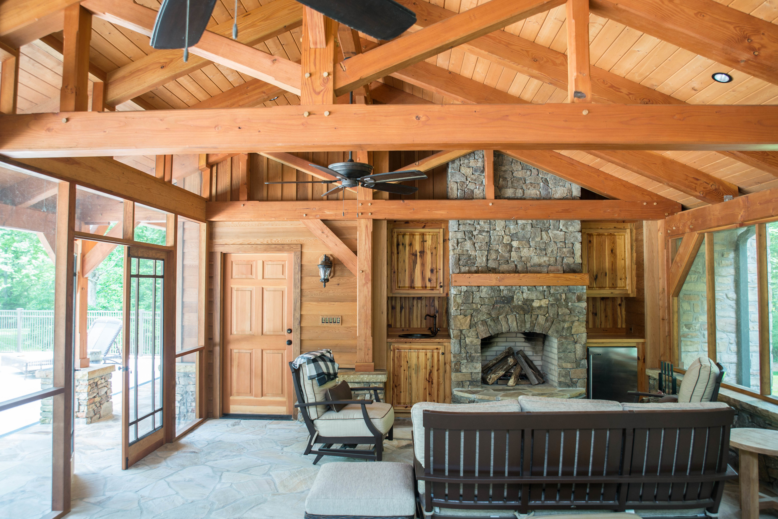 Pool House Heavy Timber Structure • Charlotte, NC