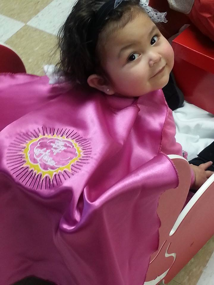 Meet one of our cape recipients, Lilly.  She received her cape after dialysis.