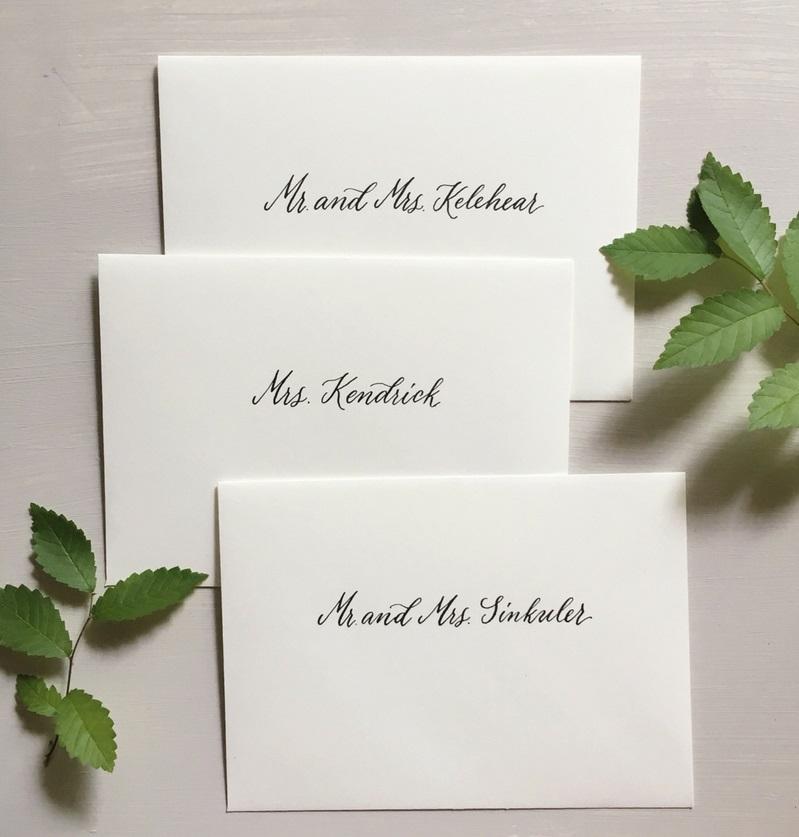 jw 2018, wedding invitation, envelope calligraphy, addressing envelopes, wedding calligraphy, columbia, sc, south carolina, lexington, south carolina.JPG