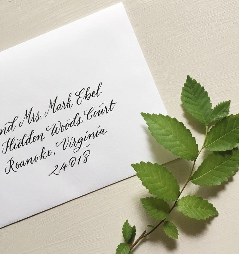 jw 2018 wedding invitation, envelope calligraphy, addressing envelopes, wedding calligraphy, columbia, sc, south carolina, lexington, south carolina 1.JPG