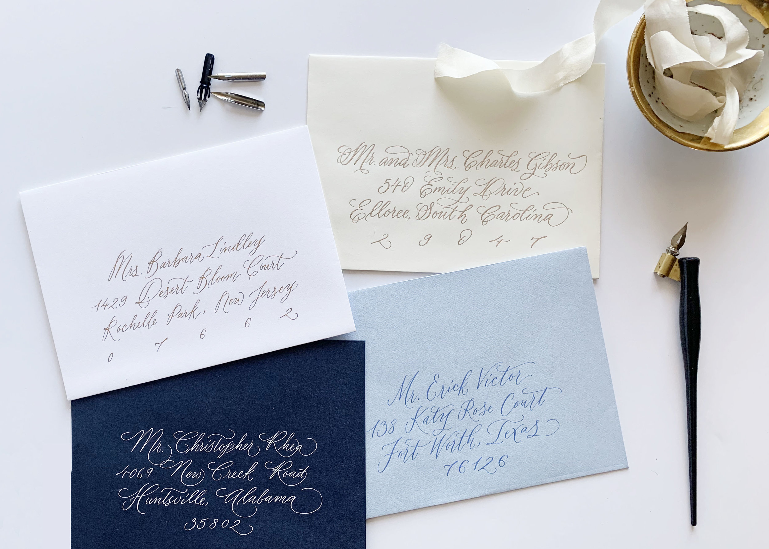 1 address envelopes, address wedding invitations, calligraphy for wedding invitations, columbia, sc, greenville, sc, charleston, sc, lexington, sc.jpg