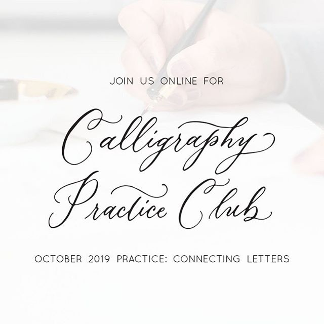 If you've been wanting to learn calligraphy and don't know where to start, or know you need more practice to improve your skills, come join us inside Calligraphy Practice Club.  What is Calligraphy Practice Club and what's included?  Calligraphy Practice Club™ is a monthly online membership for calligraphy beginners to encourage continued learning and provide accountability for practicing pointed pen calligraphy.  Here's a peek of what's included: ▫️ October 2019 Calligraphy Practice: Connecting Lowercase Letters with Online Videos & Printable Worksheets ▫️ Access to Calligraphy Practice Archive with past month's practice ▫️ One Live Q&A Session and Calligraphy Demonstration inside Facebook Community ▫️ One Live Feedback of Member Submitted Practice or Work inside Facebook Community ▫️ Bonus: Pointed Pen Basics for members who are learning calligraphy for the very first time  Calligraphy Practice Club is all online. You can stay one month, 3 months, or however long you'd like. You decide month to month and you can cancel anytime.  Click link in my profile to learn more and join Calligraphy Practice Club today. 🎉