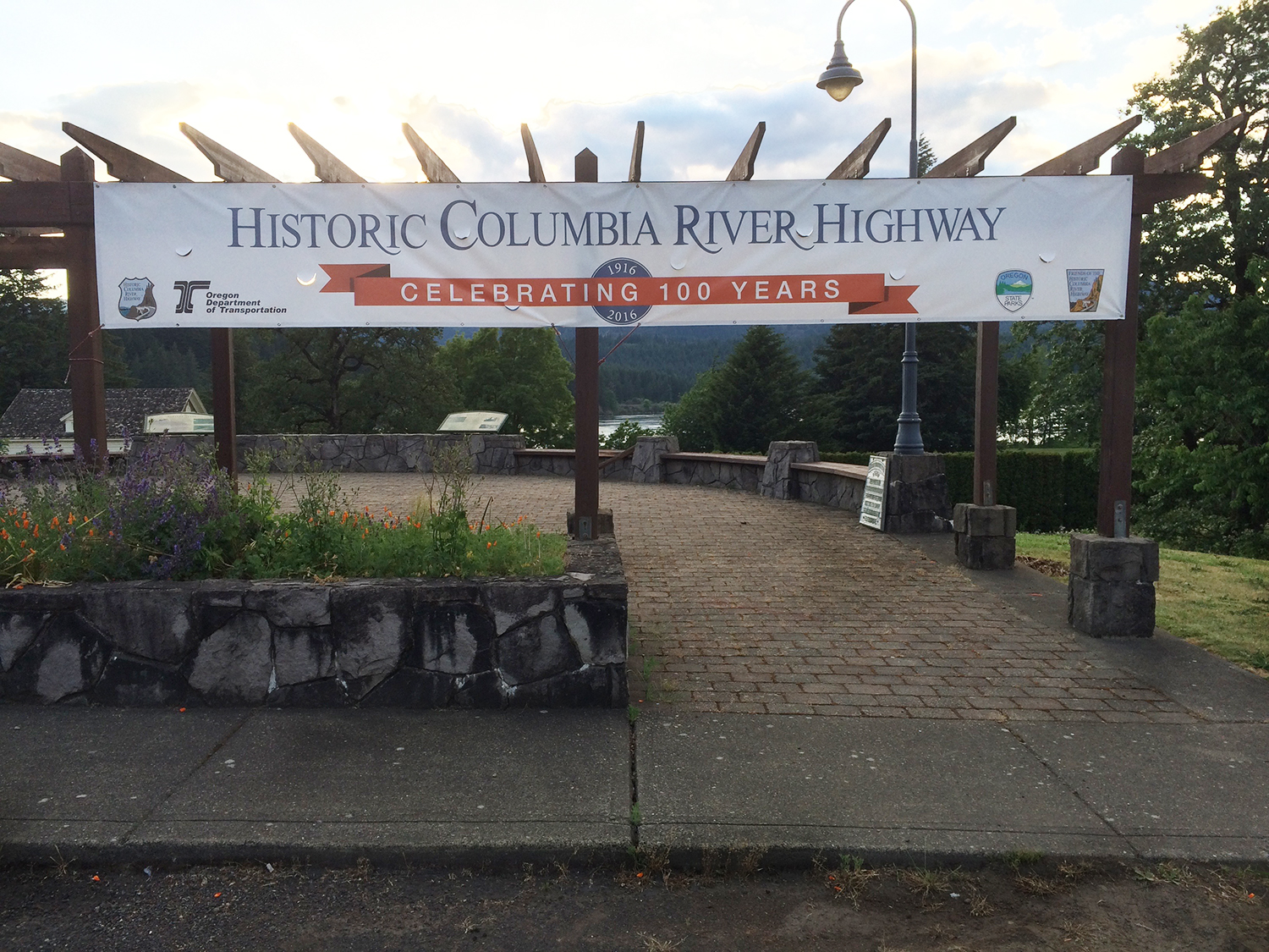 Check out the banner I designed as part of the 100 year celebration of the historic Columbia River HIghway